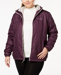 Columbia Plus Size Bella Plush Hooded Jacket Dusty Purple