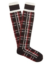 Undercover Checked Socks Black
