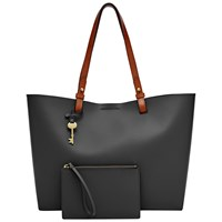 Fossil Rachel Leather Tote Bag Black