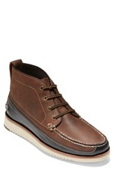 Cole Haan Pinch Moc Toe Boot Brown Leather