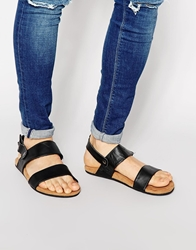 Toms Moreno Leather Sandals Black