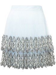 Christopher Kane Pleated Mini Skirt Blue