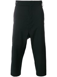 Odeur Dropped Crotch Trousers Black
