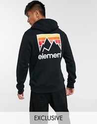 Element Joint Hoodie In Black Exclusive At Asos