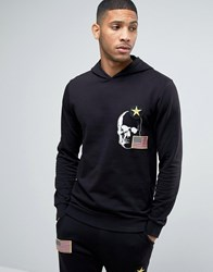 Only And Sons Hoodie With Badge Detailing Black