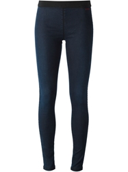 P.A.R.O.S.H. Elasticated Waist Leggings Blue