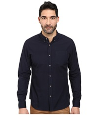 Ag Adriano Goldschmied Nimbus Shirt Sulfer Night Eclipse Men's Long Sleeve Button Up Blue