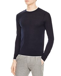 Sandro Trim Sweater Navy Blue