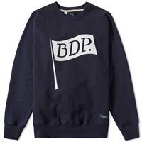 Bleu De Paname Flag Logo Crew Sweat Blue