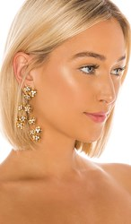 Jennifer Behr Adella Chandelier Earrings In Metallic Gold.