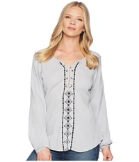 Aventura Clothing Malia Long Sleeve Top Grey Dawn Gray