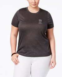 Mighty Fine Trendy Plus Size Espresso Yourself Graphic T Shirt Gray