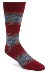 Bugatchi Stripe Socks Bordeaux