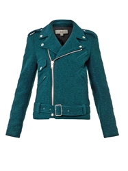 Rika Irena Boiled Wool Biker Jacket