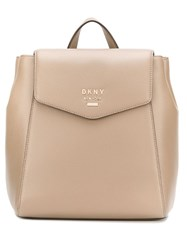 Dkny Branded Minimal Backpack Neutrals
