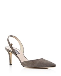 Sarah Jessica Parker Sjp By Bliss Slingback Pointed Toe Pumps Adara Gray