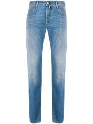 Jacob Cohen Stonewashed Tapered Denim Jeans 60