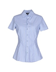 Amy Gee Shirts Slate Blue