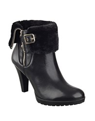Anne Klein Talasi Leather Faux Fur Lined Booties