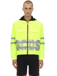 Gcds Combo Coach Techno Jacket Yellow
