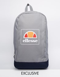 Ellesse Box Logo Backpack Exclusive To Asos Grey