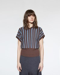 Marni Stripe Sweater Saddle Brown