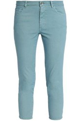 Red Valentino Cropped Mid Rise Skinny Jeans Sky Blue