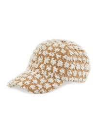 Federica Moretti Tom Frayed Canvas Baseball Cap White