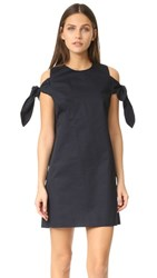 J.O.A. Knot Sleeve Dress Navy