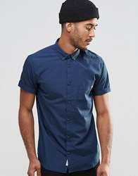 Jack And Jones Jack And Jones Short Sleeve Shirt With Button Down Collar Navy