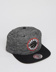 Mitchell And Ness Snapback Cap Toronto Raptors In Prime Knit Black