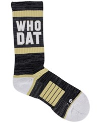 Strideline New Orleans City Socks Heather Charcoal White Beige