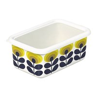 Orla Kiely 70S Oval Flower Storage Container Medium Yellow
