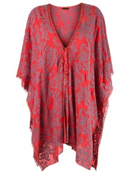 Talie Nk Embroidered Poncho