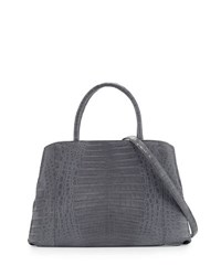 Nancy Gonzalez Large New Work Crocodile Tote Bag Light Gray