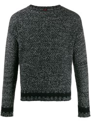 Massimo Piombo Mp Wool Knitted Jumper Black