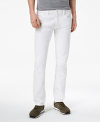 Armani Exchange Men's Slim Straight Fit Stretch Jeans Solid White