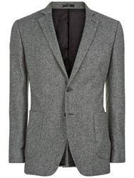 Jaeger Salt And Pepper Slim Fit Jacket Charcoal
