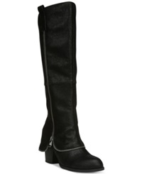 Fergalicious Tune Up Tall Shaft Cuffed Boots Women's Shoes Black