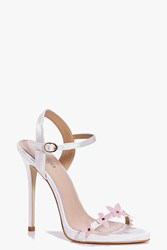 Boohoo Bridal Butterfly Trim Two Part Sandals Pink