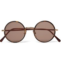 Cutler And Gross Round Frame Tortoiseshell Acetate Gold Tone Sunglasses Tortoiseshell