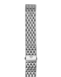 Michele 16Mm Deco Moderne Ii Stainless And Diamond Bracelet
