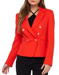 Miss Selfridge Double Breasted Blazer Red