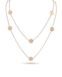 Dominique Cohen Griffin Coin 18K Rose Gold Long Necklace 42 L