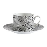 Fornasetti Malachite Teacup Black White