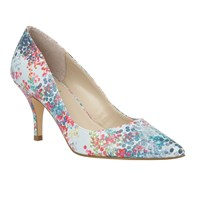 Lotus Buckwell Digital Print Heels Blue