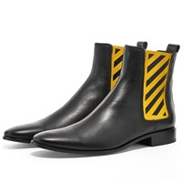 Off White Diagonals Chelsea Boot Black