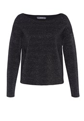 Hallhuber Boxy Lurex Jumper Black
