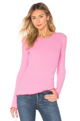 Milly Contrast Edge Pullover Pink
