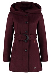 Khujo Marion Short Coat Wine Red Bordeaux